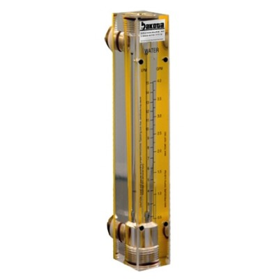 Water Flow Meters - Acrylic, Brass Fittings, No Valve