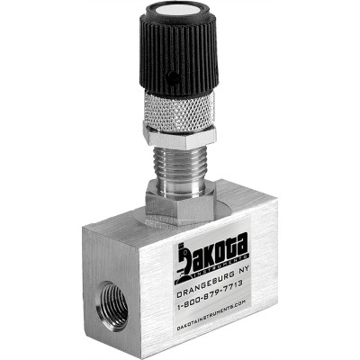 316 Stainless Steel High Precision Metering Needle Valve - 180 Degree Straight Flow Pattern