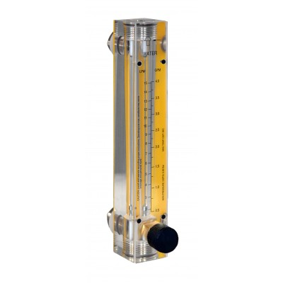 Air Flow Meters - Acrylic, Brass Fittings, Valve Included
