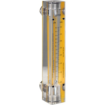 Carbon Dioxide Flow Meters - Acrylic, Brass Fittings, No Valve