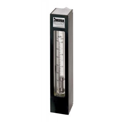 "Encased Glass Tube Panel Mount Flow Meter, 316 Stainless Steel 3/8"" FNPT Adapter, No Valve"