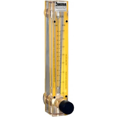 Argon Flow Meters - Acrylic, Brass Fittings, Valve Included
