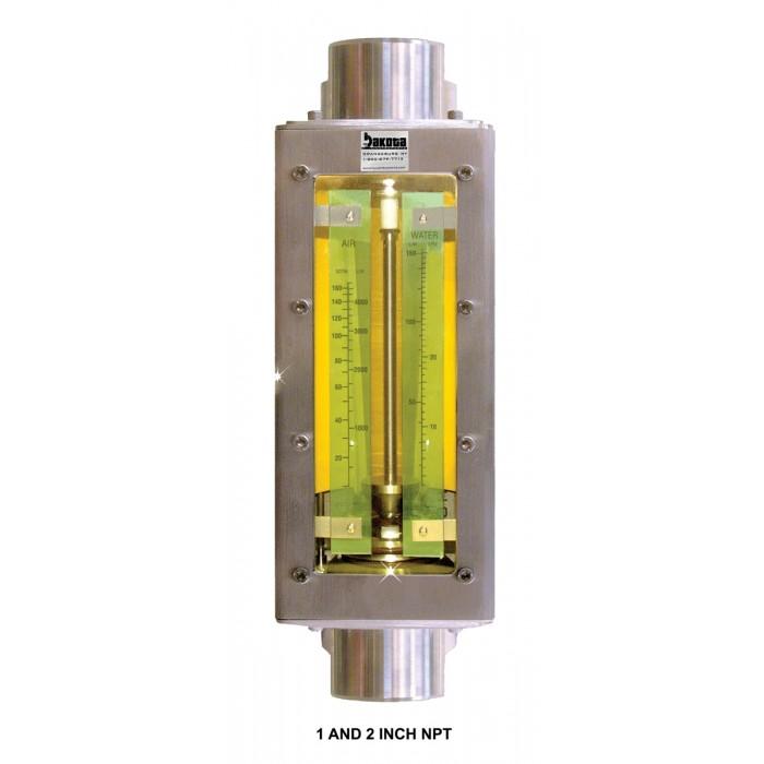 Inline Ph Tester : Industrial stainless steel in line flow meter npt