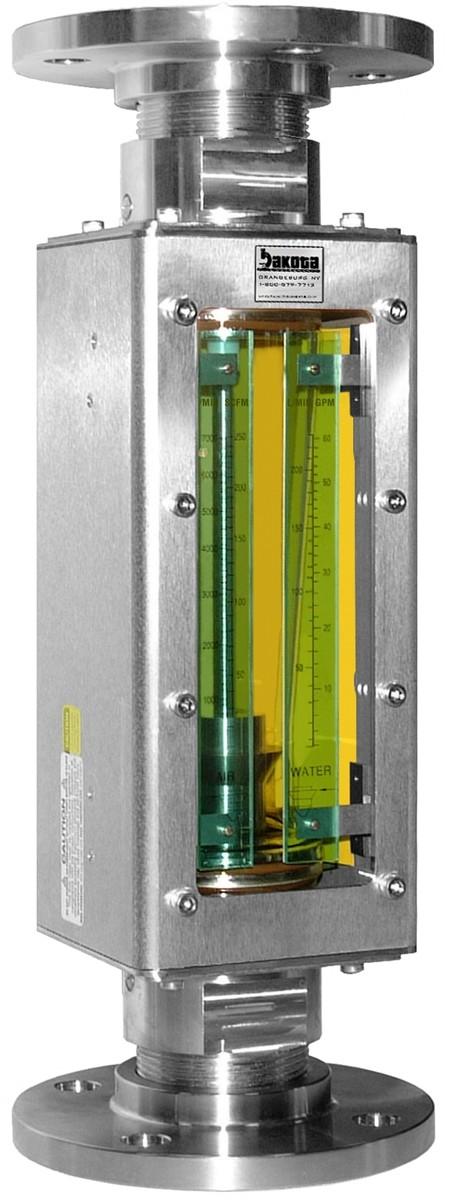 Industrial Stainless Steel Flanged Flow Meter, Flange Connector, No Valve  (M Meter)