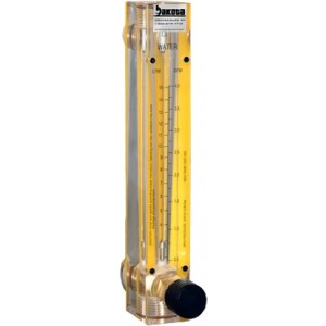 Nitrogen Flow Meters - Acrylic, Brass Fittings, Valve Included