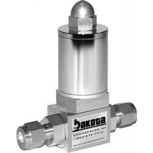"Proportional Solenoid Valve, 316/416 Stainless Steel, Viton® seals, 1/4"" Compression Fittings"