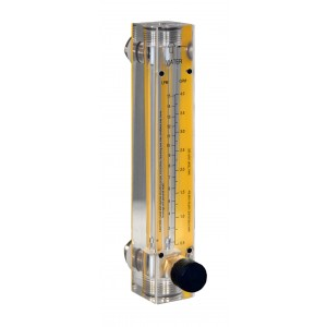 H20 Flow Meters - Acrylic, Brass Fittings, Valve Included
