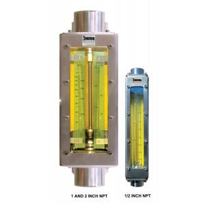 Industrial Stainless Steel In-Line Flow Meter, NPT Connector, No Valve (M Meter)