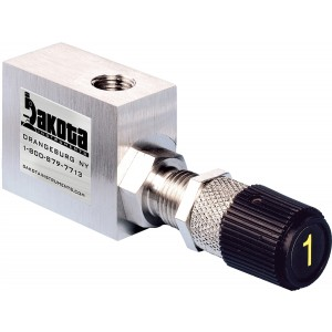 316 Stainless Steel High Precision Metering Needle Valve - 90 Degree Flow Pattern