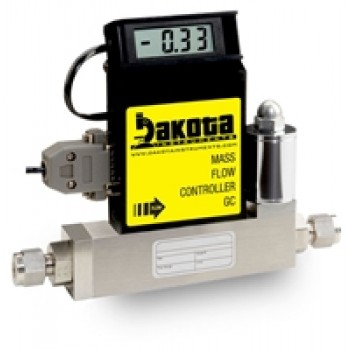 GC3 Series - Helium Mass Flow Controller - Stainless Steel, Medium Flow, With or Without LCD Readout, 1/4 Inch Compression Fittings, 0-5VDC Analog Input/Output