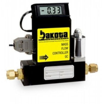 GC4 Series - Argon Mass Flow Controller - Aluminum, Medium Flow, With or Without LCD Readout, 3/8 Inch Compression Fittings, 0-5VDC Analog Input/Output