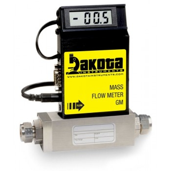 GM3 Series - Argon Mass Flow Meter - Stainless Steel, Medium Flow, With or Without LCD Readout, 1/4 Inch Compression Fittings, 0-5VDC Analog Output