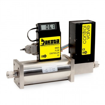 GC6 Series - Argon Mass Flow Controller - Stainless Steel, High Flow, With or Without LCD Readout, 1/2 Inch Compression Fittings, 0-5VDC Analog Input/Output
