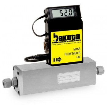 GM5 Series - Helium Mass Flow Meter - Stainless Steel, High Flow, With or Without LCD Readout, 3/8 Inch Compression Fittings, 0-5VDC Analog Output