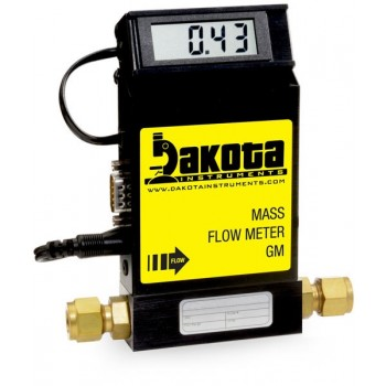 GM1 Series - Argon Mass Flow Meter - Aluminum, Low Flow, With or Without LCD Readout, 1/4 Inch Compression Fittings, 0-5VDC Analog Output