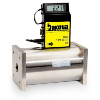 GM7 Series - Hydrogen Mass Flow Meter - Stainless Steel, High Flow, With LCD Readout, 3/4 Inch FNPT Fittings, 0-5VDC Analog Output