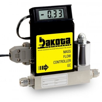GC1 Series - Air Mass Flow Controller - Stainless Steel, Low Flow, With or Without LCD Readout, 1/4 Inch Compression Fittings, 0-5VDC Analog Input/Output