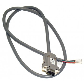 Stepping Motor Valve Connection Cable, 9-Pin Female D-connector, Unterminated Ends,3 ft length