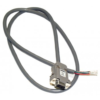 Shielded Cable, 15-pin D-connector with terminated end for GC series mass flow controller, 8ft length (6ACBLGCD)