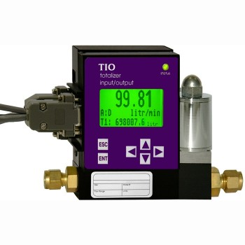 Totalizer Input/Output Flow Monitor/Controller - Display Readout, 0-5Vdc/0-5Vdc RS-232 Interface (GC Series)