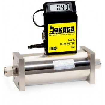 GM6 Series - Helium Mass Flow Meter - Stainless Steel, High Flow, With or Without LCD Readout, 1/2 Inch Compression Fittings, 0-5VDC Analog Output