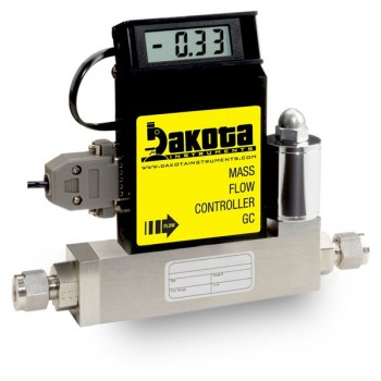 GC4 Series - Nitrogen Mass Flow Controller - Stainless Steel, Medium Flow, With or Without LCD Readout, 3/8 Inch Compression Fittings, 0-5VDC Analog Input/Output