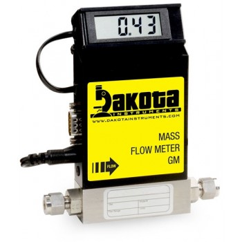 GM1 Series - Argon Mass Flow Meter - Stainless Steel, Low Flow, With or Without LCD Readout, 1/4 Inch Compression Fittings, 0-5VDC Analog Output