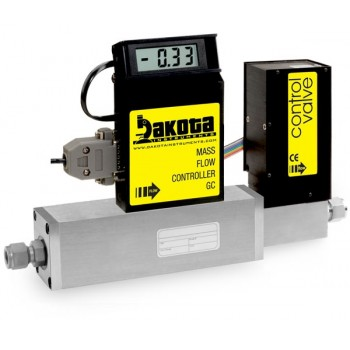 GC5 Series - Air Mass Flow Controller - Stainless Steel, High Flow, With or Without LCD Readout, 3/8 Inch Compression Fittings, 0-5VDC Analog Input/Output