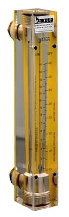 Nitrogen Flow Meters - Acrylic, Brass Fittings, No Valve