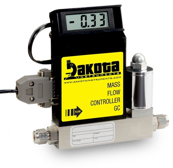 GC1 Series - Hydrogen Mass Flow Controller - Stainless Steel, Low Flow, With or Without LCD Readout, 1/4 Inch Compression Fittings, 0-5VDC Analog Input/Output