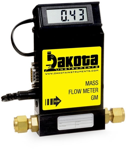 GM1 Series - Hydrogen Mass Flow Meter - Aluminum, Low Flow, With or Without LCD Readout, 1/4 Inch Compression Fittings, 0-5VDC Analog Output
